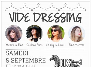 Save the date: vide-dressing le 5 septembre au Bliss Paris