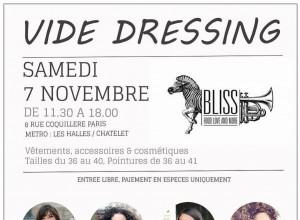 Save The Date: vide-dressing automnal le 7 novembre au Bliss