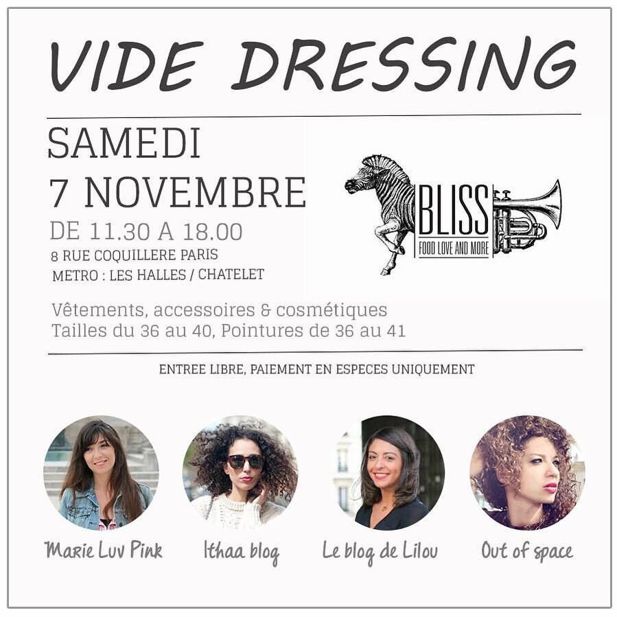 Save The Date: vide-dressing automnal le 7 novembre au Bliss