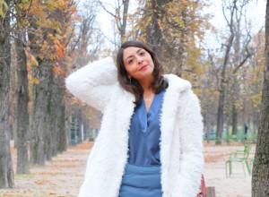 Manteau doudou et jupe doudoune