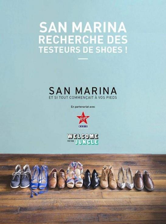 San Marina recherche des testeurs de shoes !