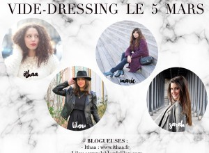 Save the date: vide-dressing le 5 mars au Bliss